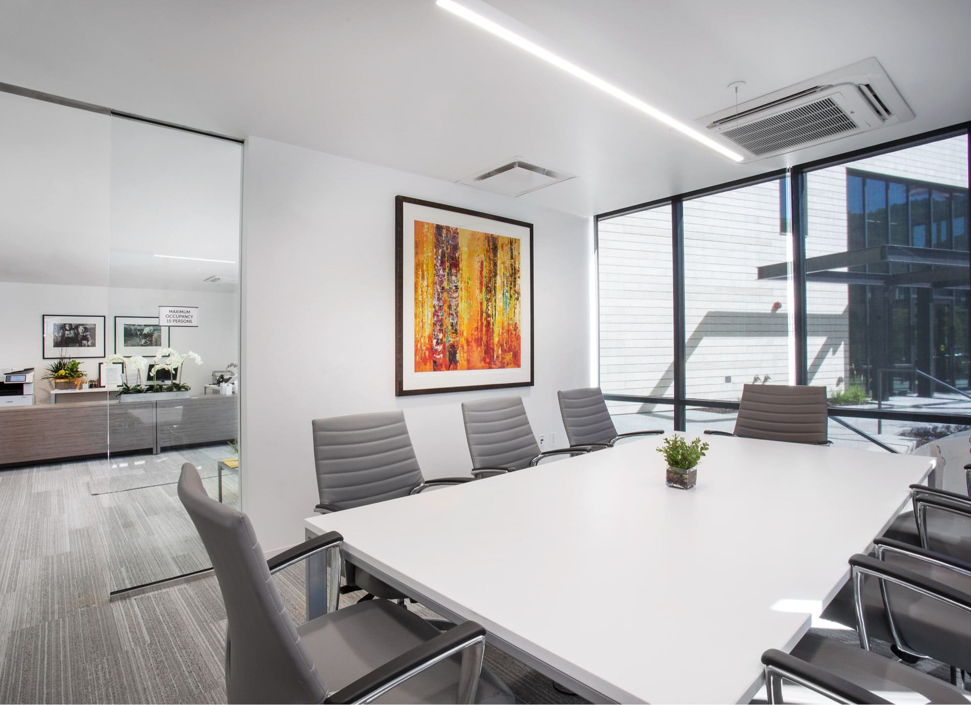Conference room, Christian Center of Park City, architectural design by Elliott Workgroup