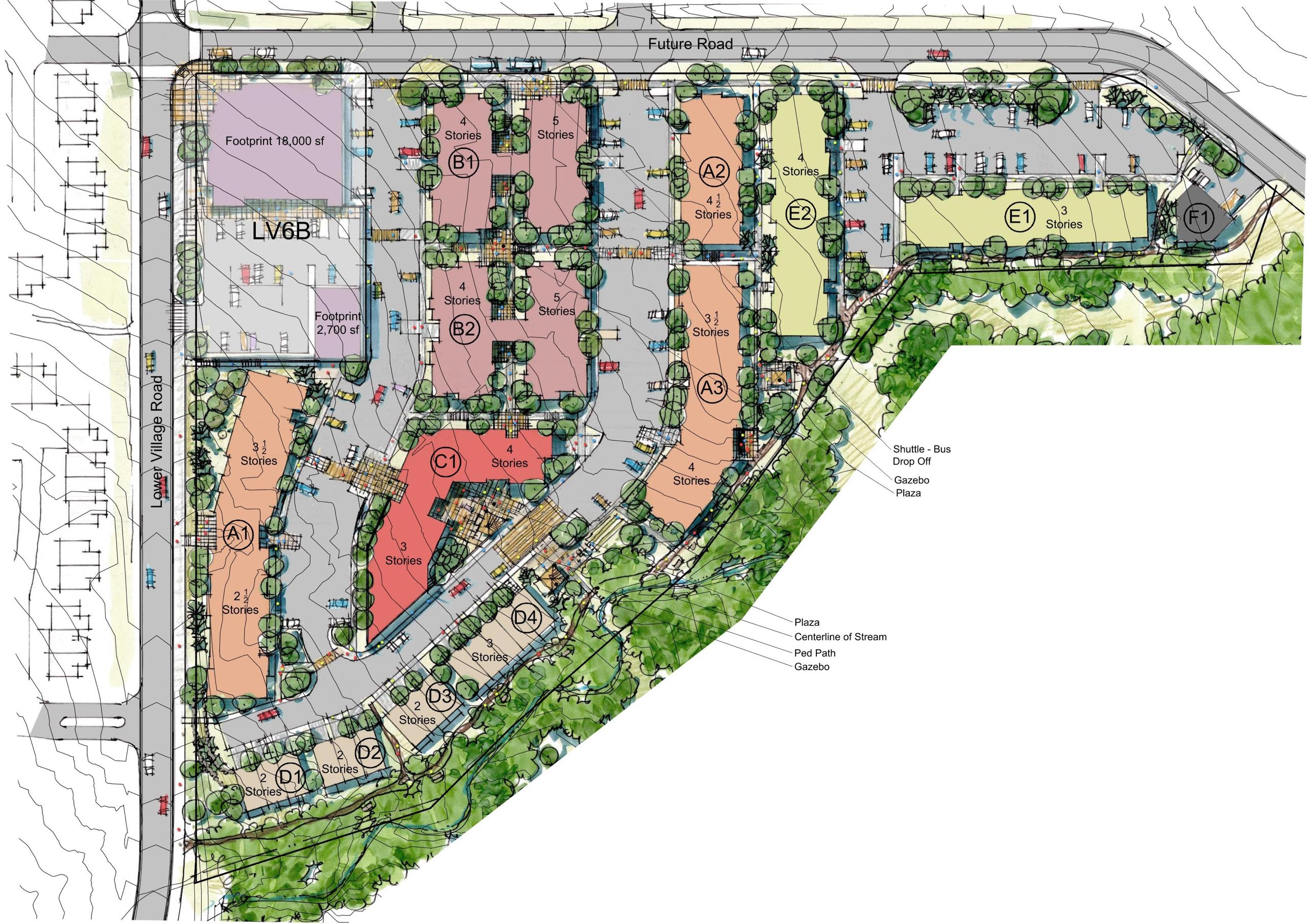 Master plan for Canyons Employee Housing in Park City, Utah, architectural design by Elliott Workgroup