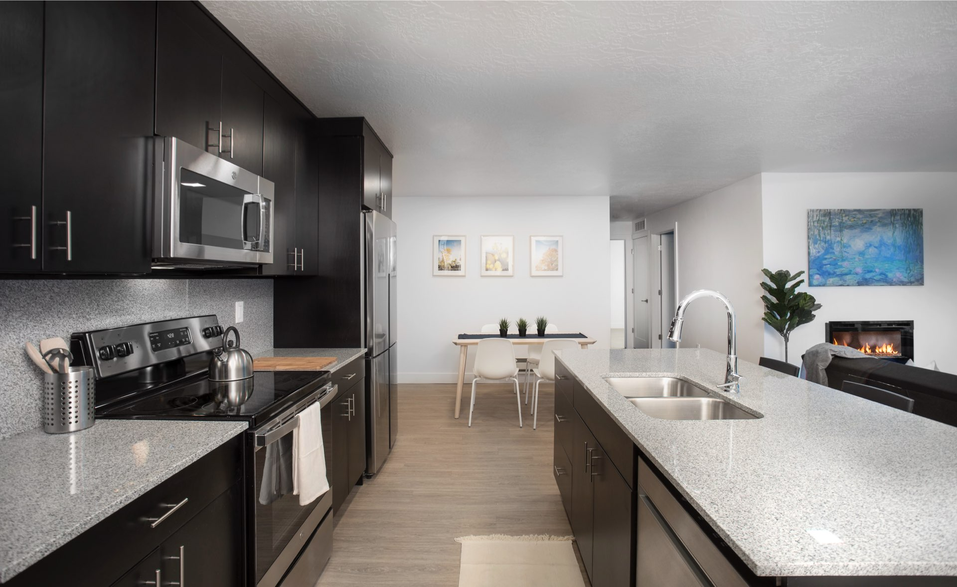 Apartment, Central Village Condominiums, architectural design by Elliott Workgroup