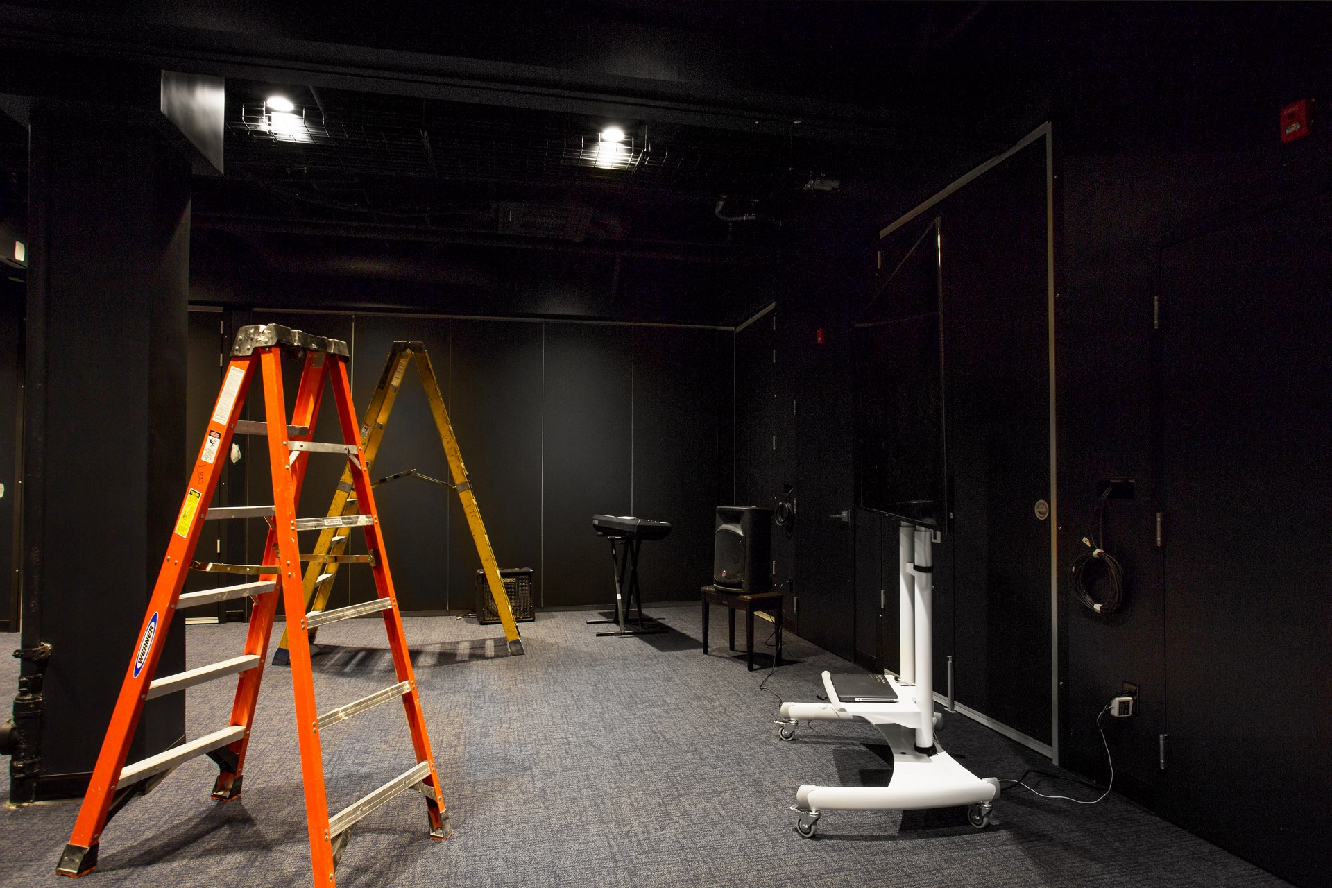 Backstage, Egyptian Black Box Theater, architectural design by Elliott Workgroup