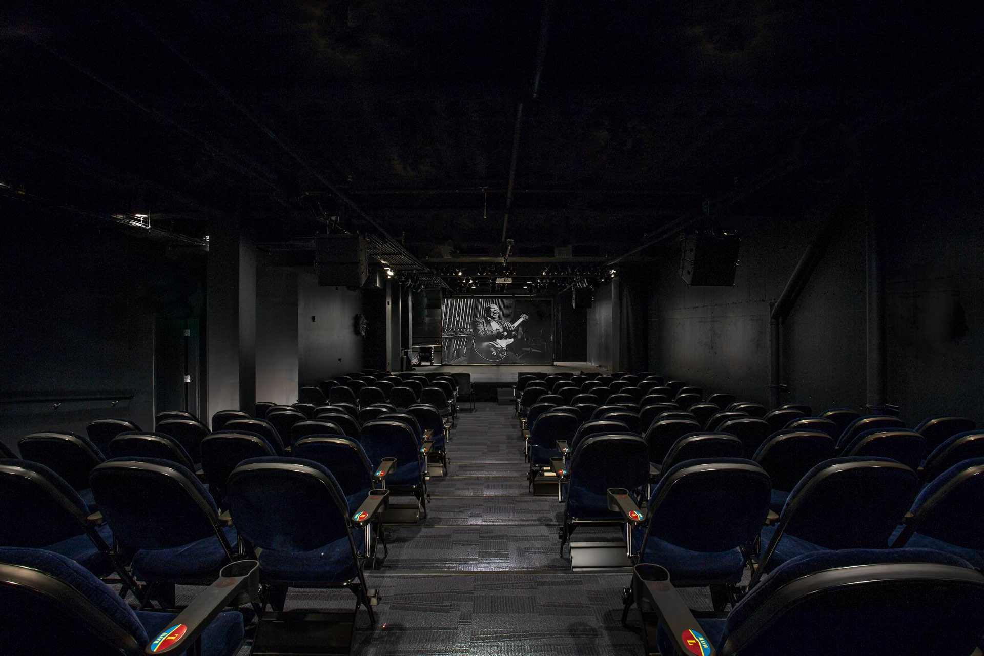 Theater, Egyptian Black Box Theater, architectural design by Elliott Workgroup