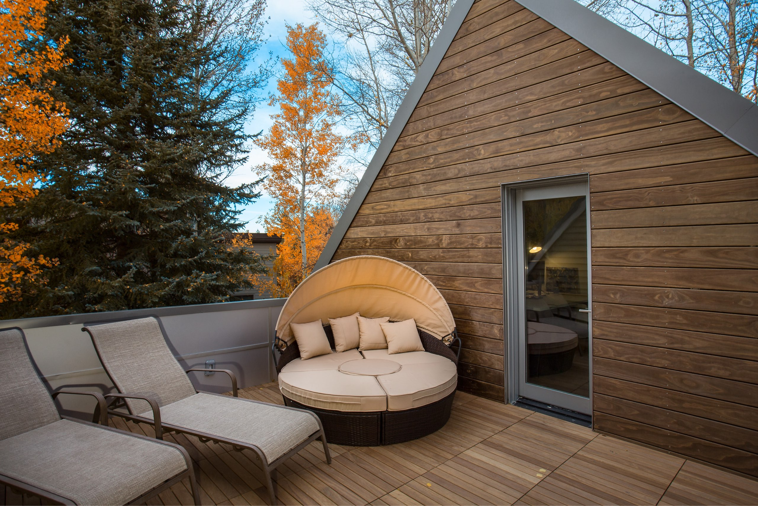 Terrace in the Granny Pod in Park City, Utah, architectural design by Elliott Workgroup