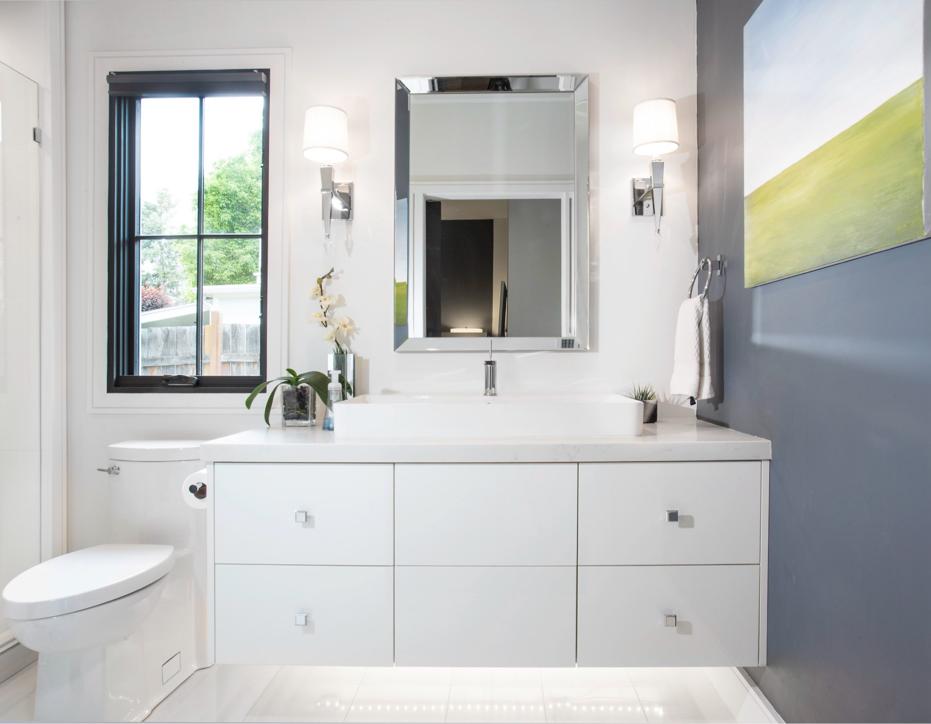 Bathroom, House 970, residential architectural design by Elliott Workgroup