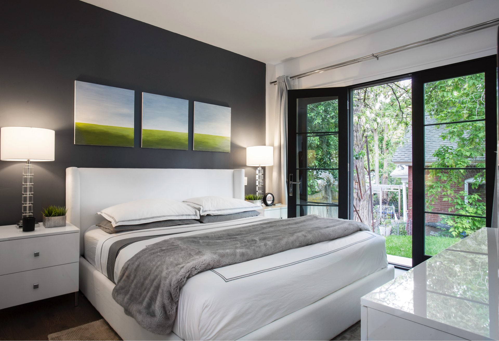 Bedroom, House 970, residential architectural design by Elliott Workgroup