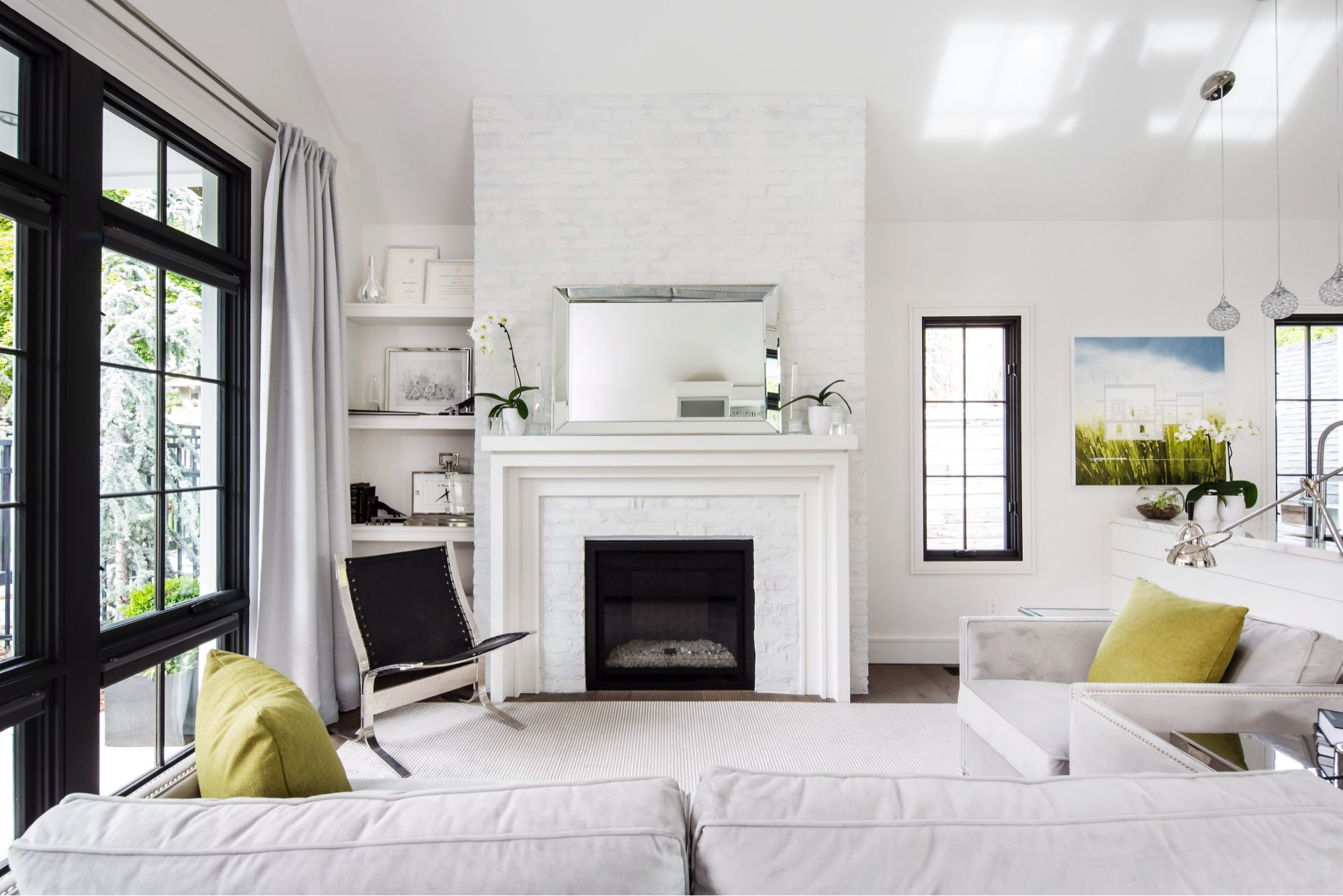 Living room, House 970, residential architectural design by Elliott Workgroup