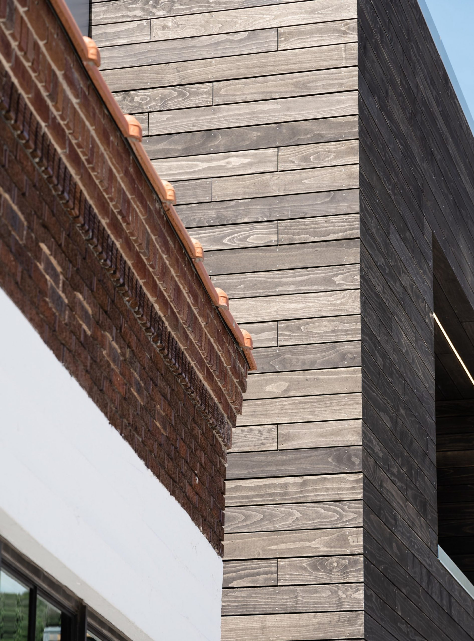 Exterior detail, Kimball on Main, architectural design by Elliott Workgroup