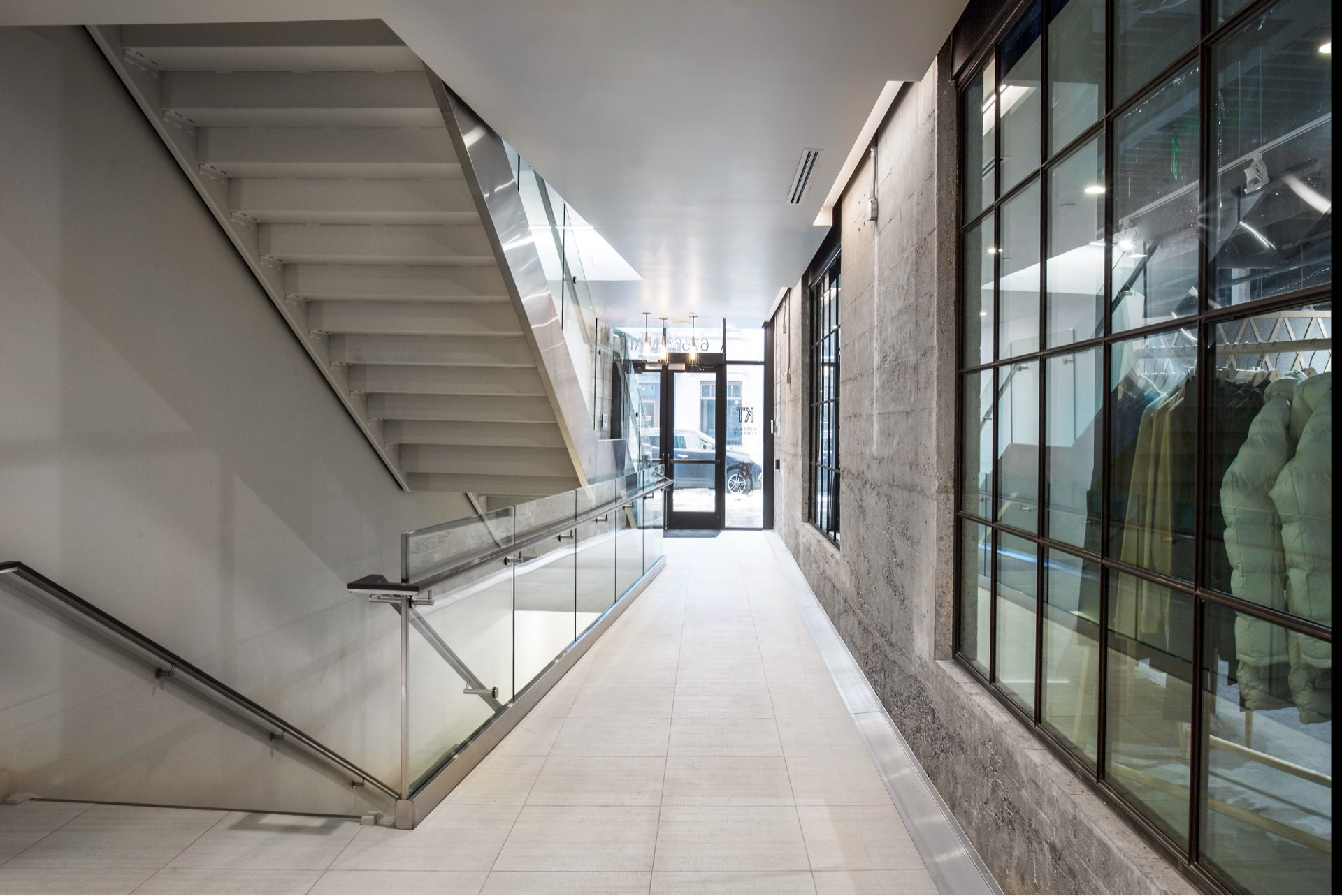 Hallway, Kimball on Main, architectural design by Elliott Workgroup