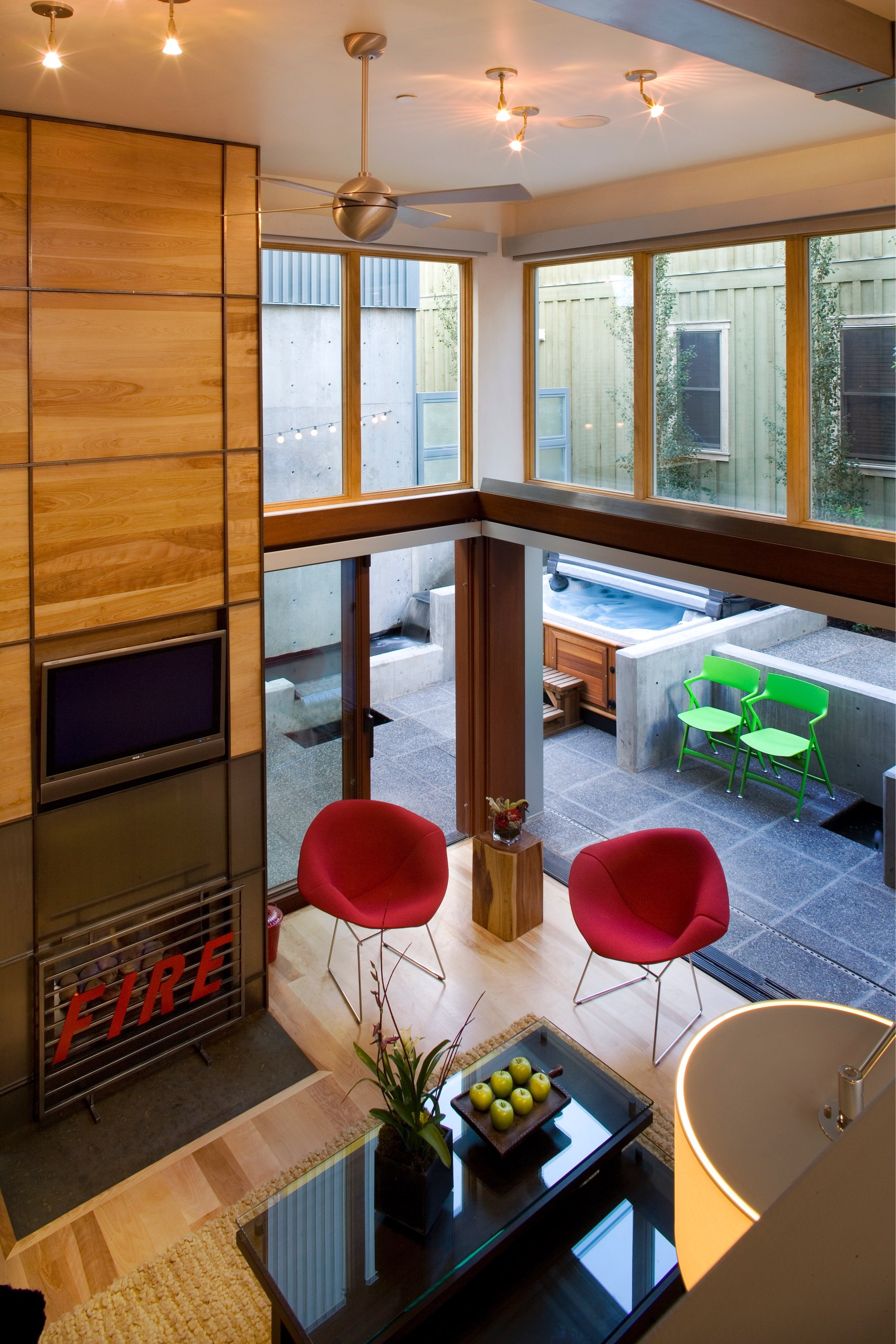 Interior and exterior of Kings Crown Triplex in Park City, Utah, architectural design by Elliott Workgroup