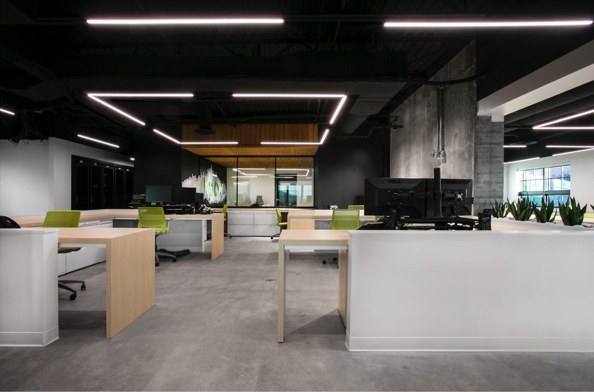 Office area, KPCW Radio, architectural design by Elliott Workgroup