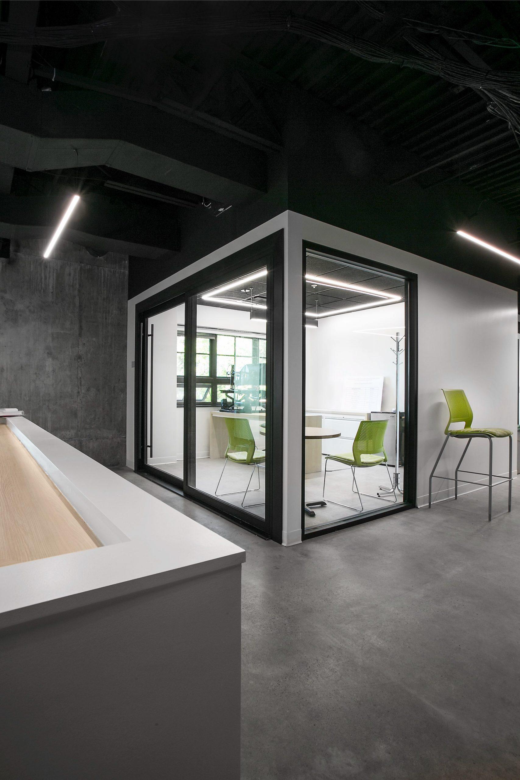 Meeting room, KPCW Radio, architectural design by Elliott Workgroup