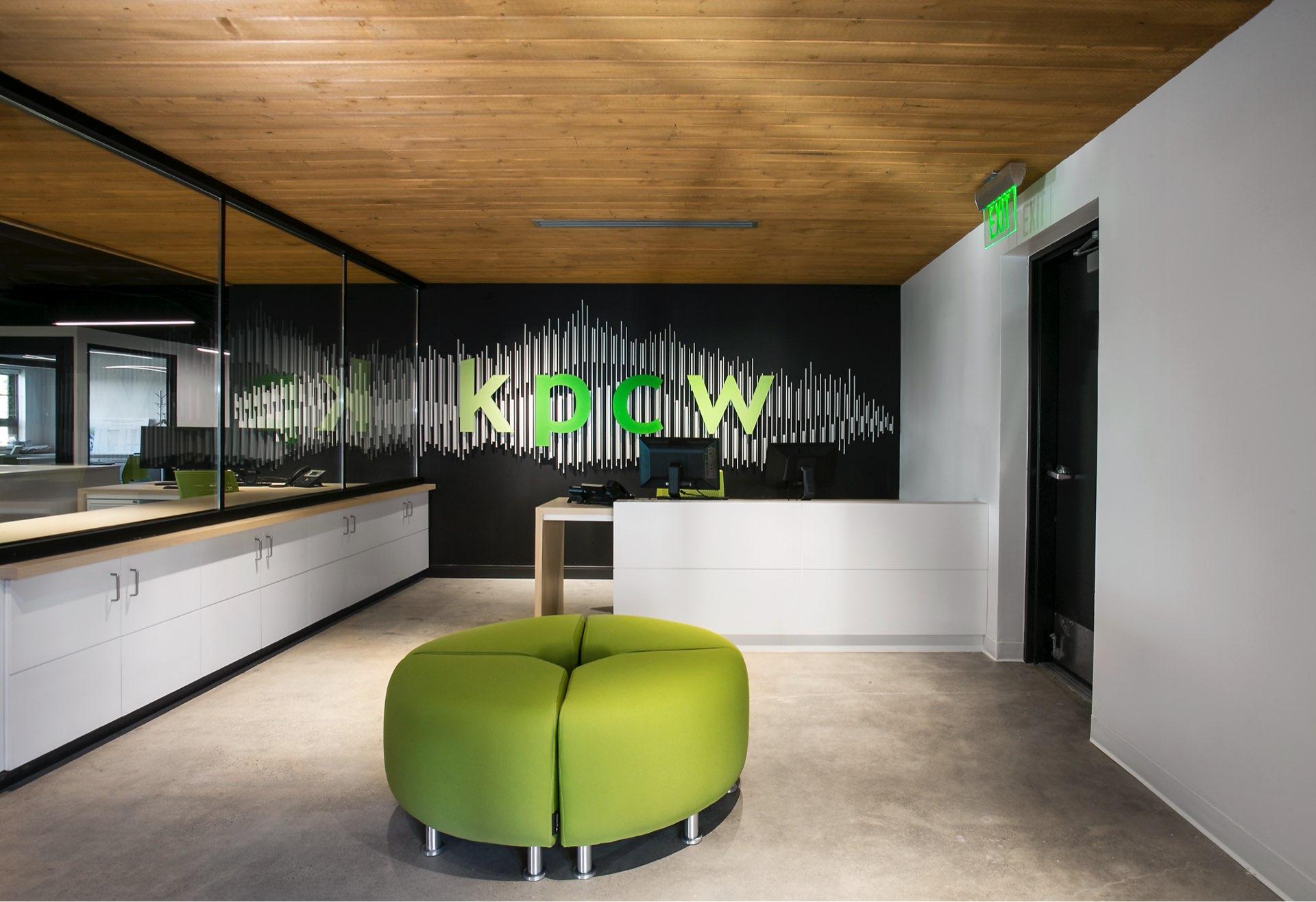 Lobby, KPCW Radio, architectural design by Elliott Workgroup