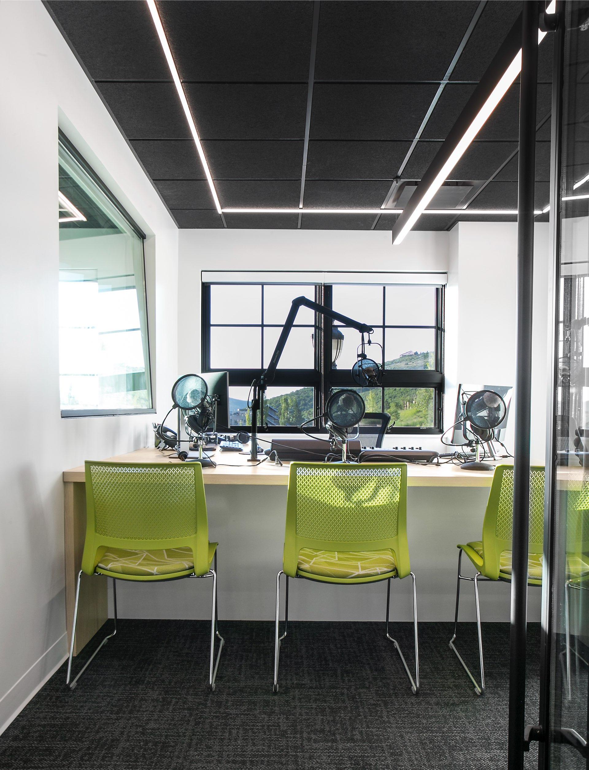 Studio, KPCW Radio, architectural design by Elliott Workgroup