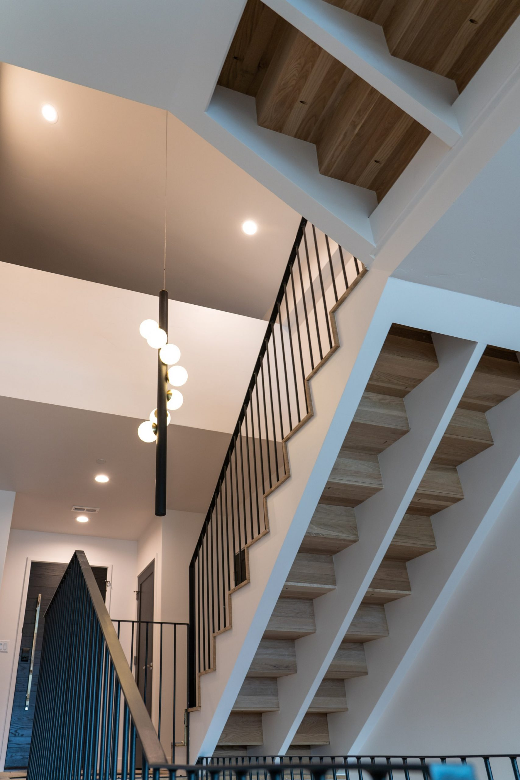 Stairs, Larkspur Residence, architectural design by Elliott Workgroup
