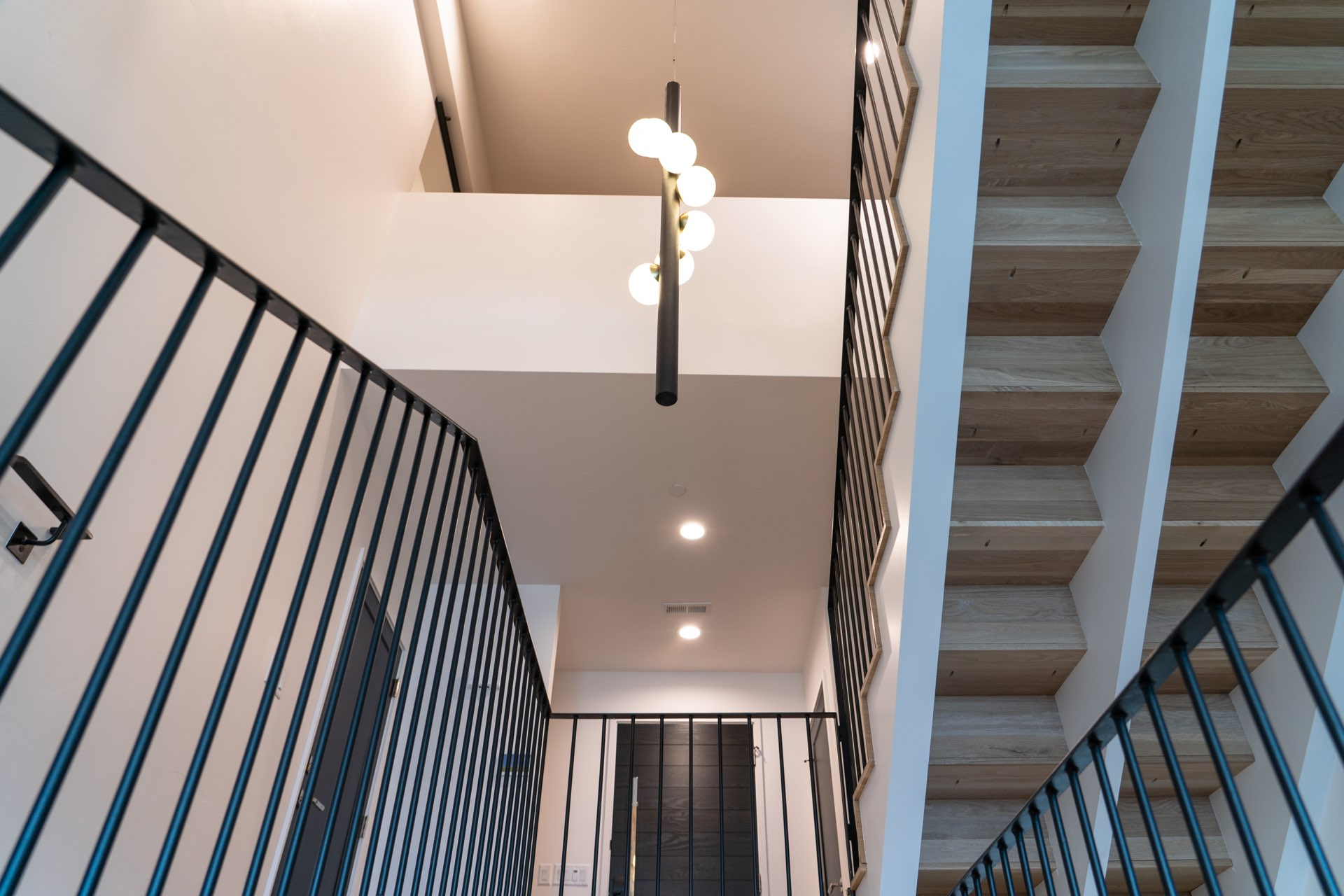 Stairs and railings, Larkspur Residence, architectural design by Elliott Workgroup