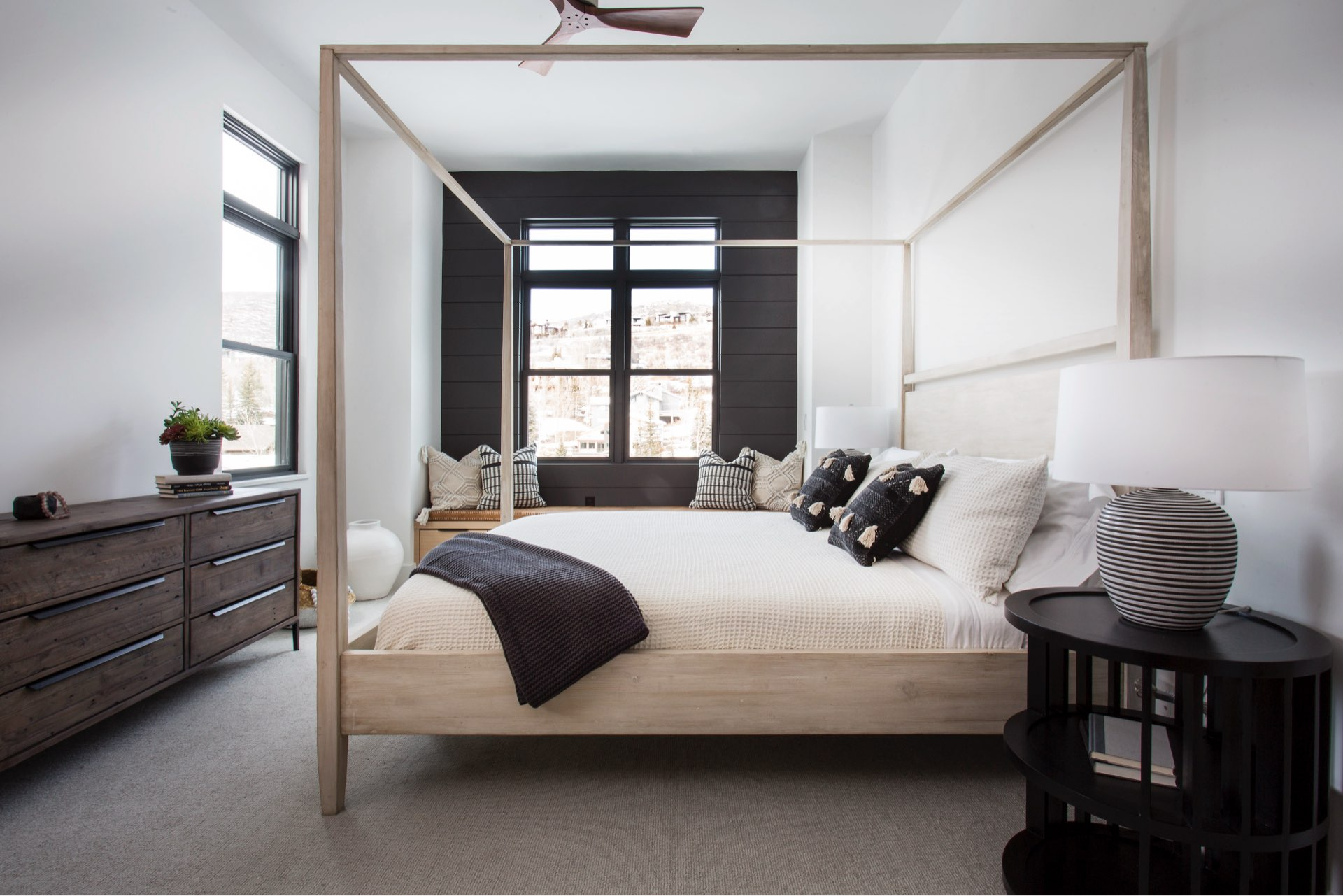Bedroom, Lilac Hill Duplex Addition, architectural design by Elliott Workgroup