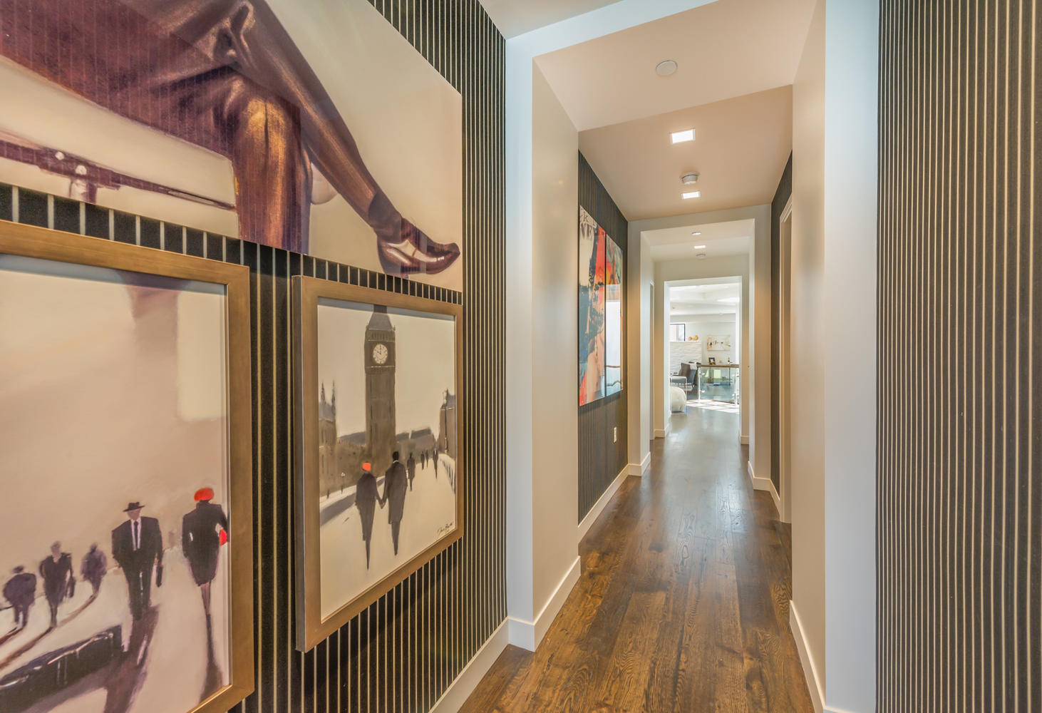 Hallway, Parkite Penthouse, architectural design by Elliott Workgroup