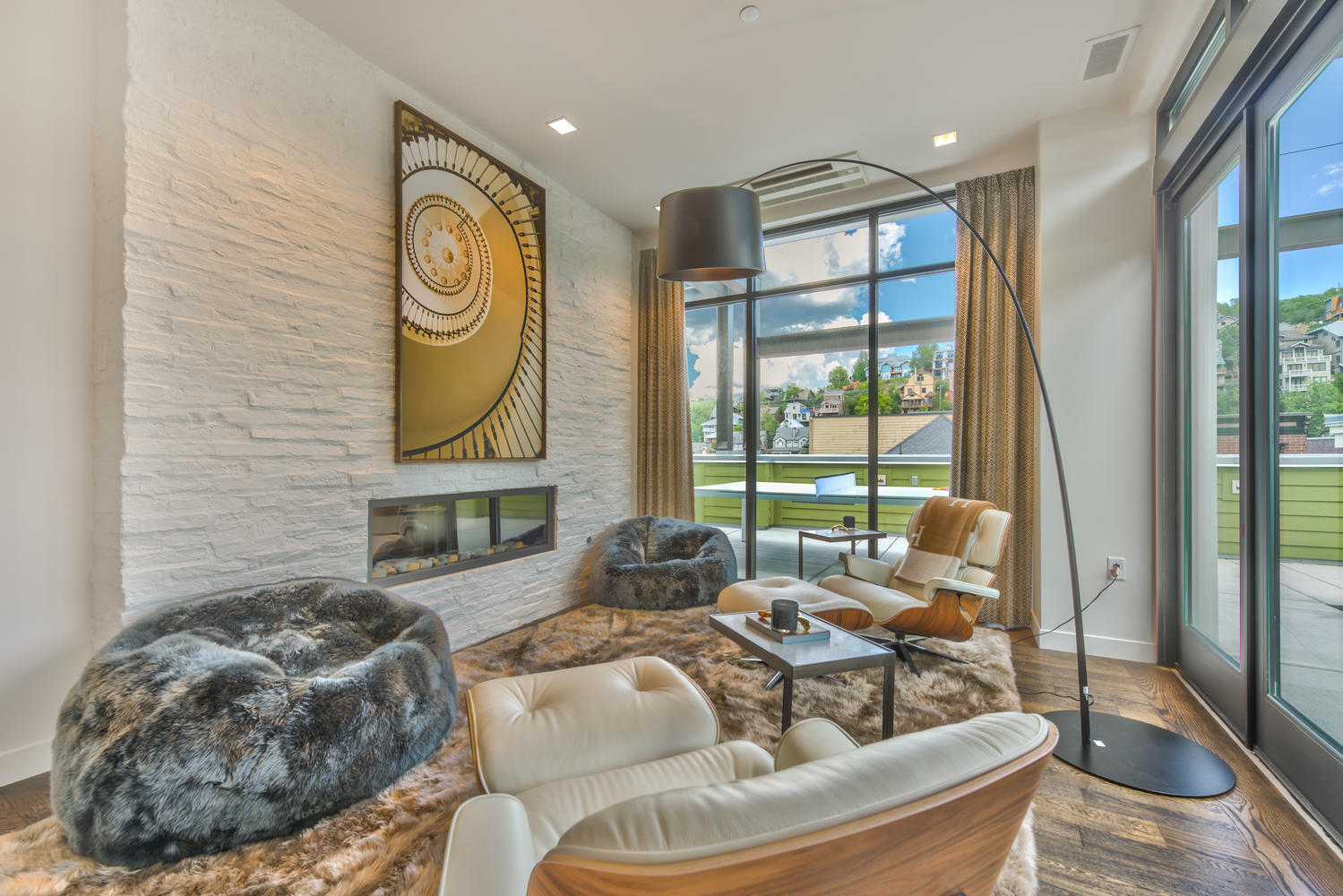 Sitting area, Parkite Penthouse, architectural design by Elliott Workgroup