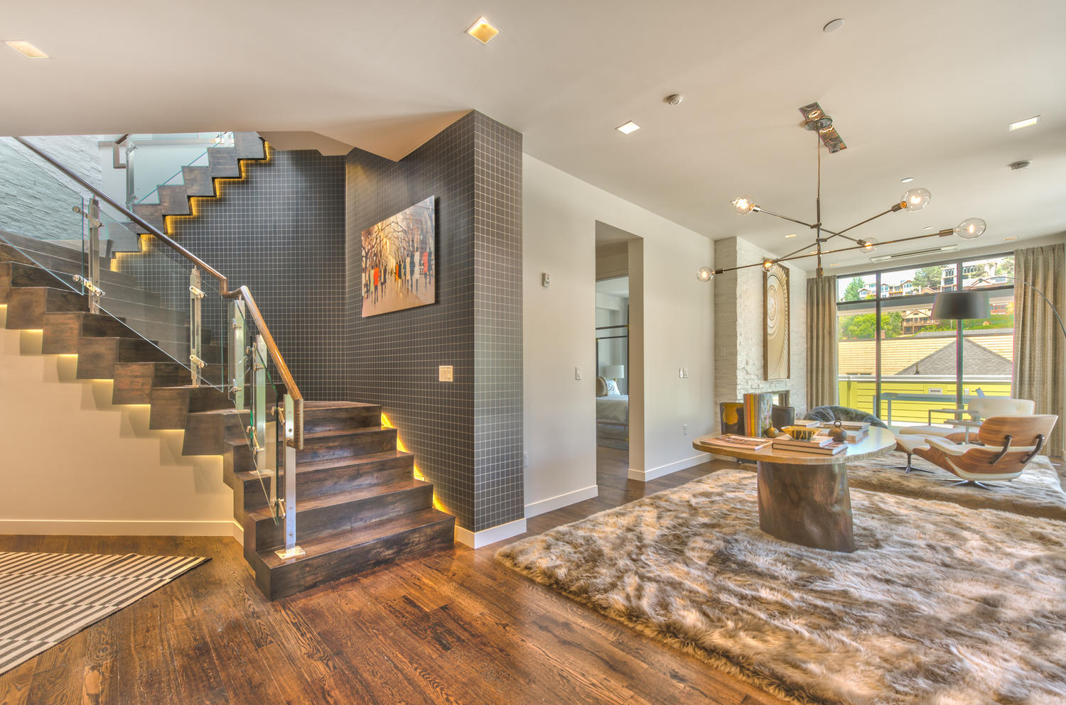 Stairs, Parkite Penthouse, architectural design by Elliott Workgroup