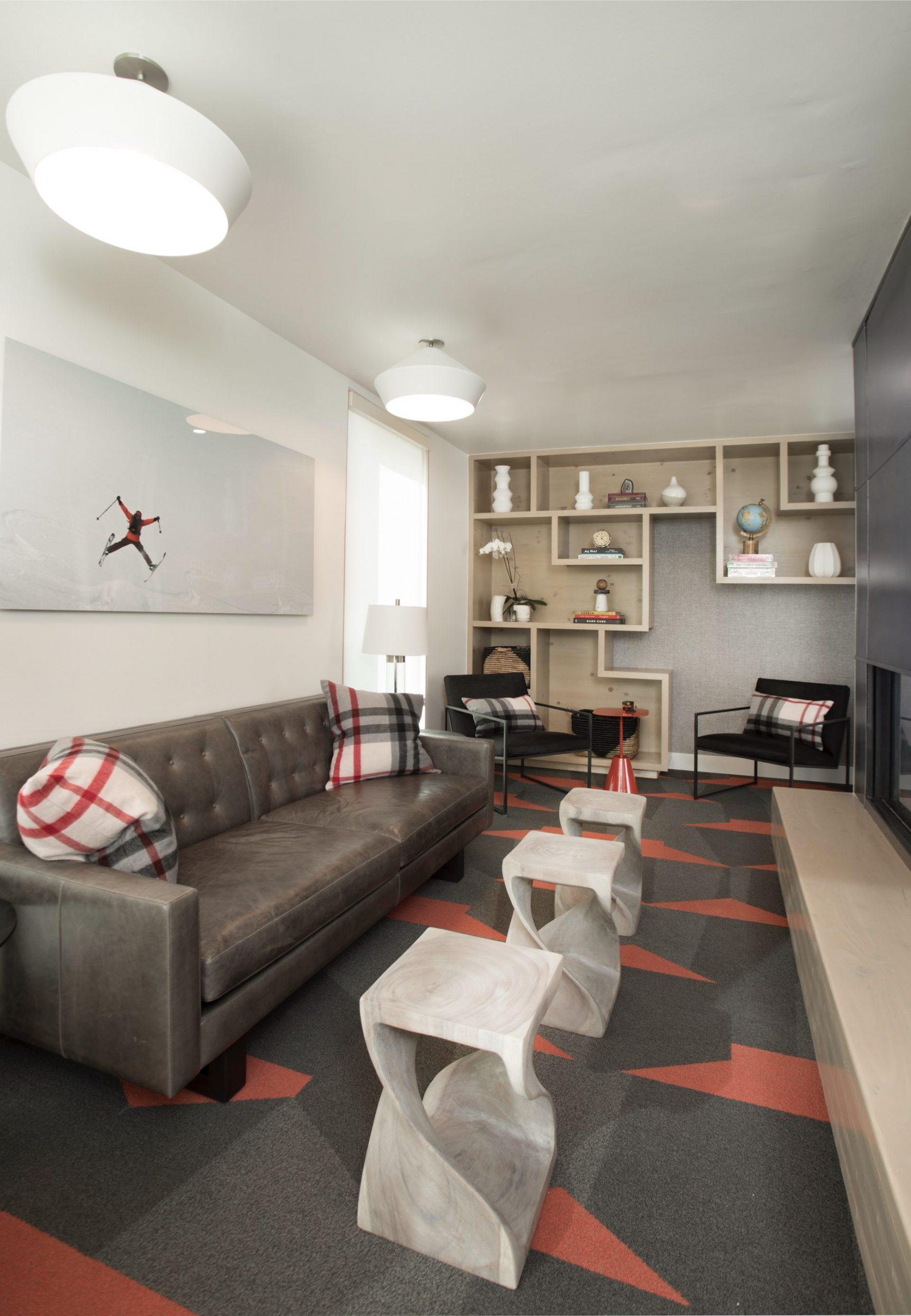 Living room, Prospector Residential, architectural design by Elliott Workgroup