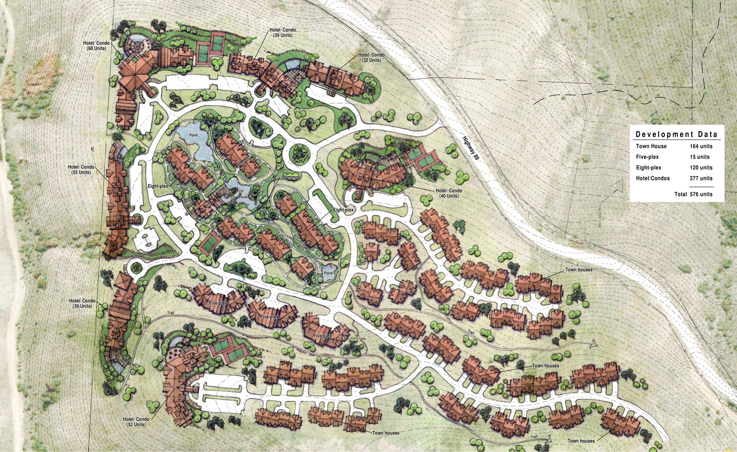 Shundahai village plan at Bear Lake in Utah, architectural design by Shundahai village plan at Bear Lake in Utah, architectural design by Elliott Workgroup