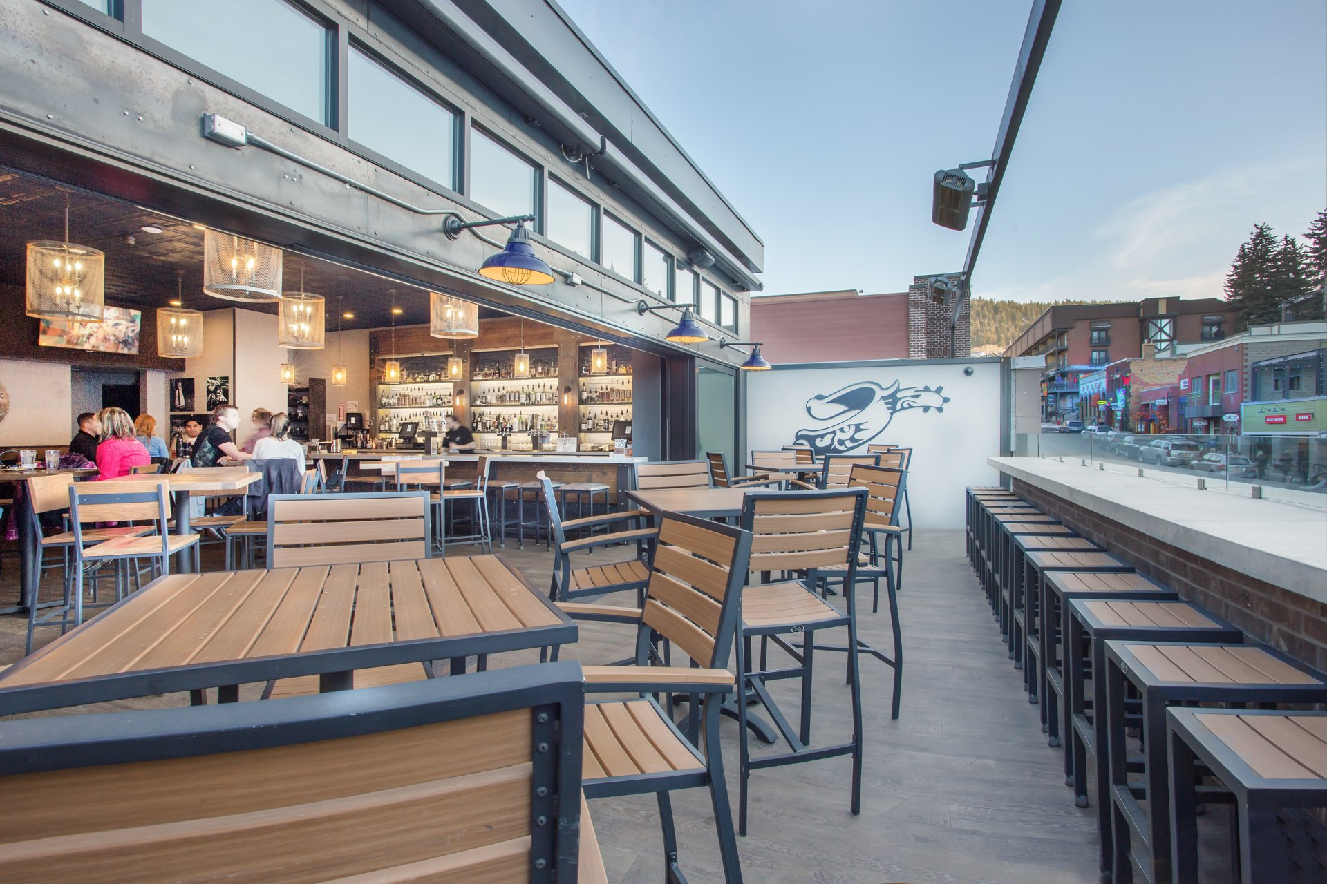 Patio, The Spur Bar and Grill, architectural design by Elliott Workgroup