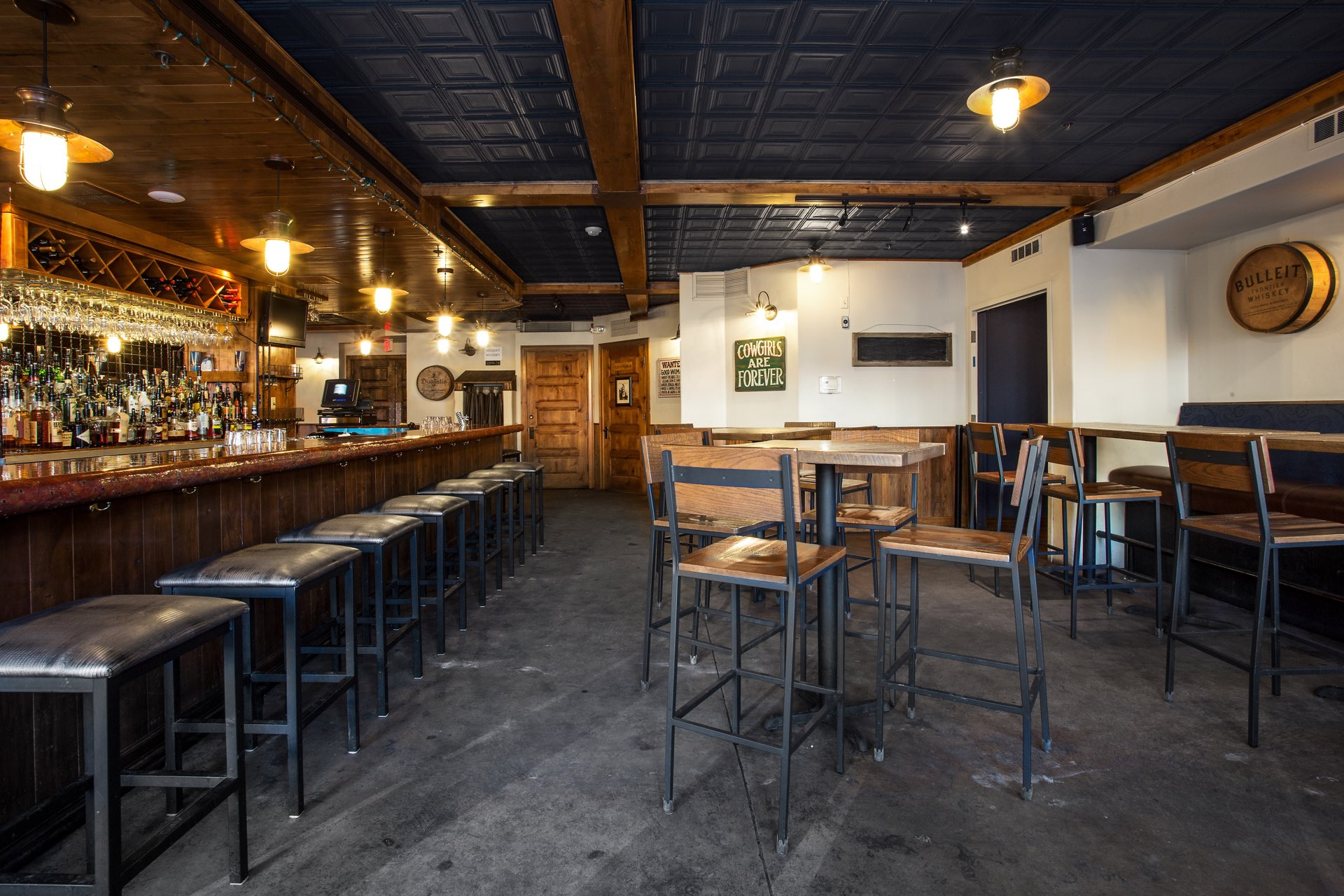 Renovated bar area, The Spur Bar and Grill, architectural design by Elliott Workgroup