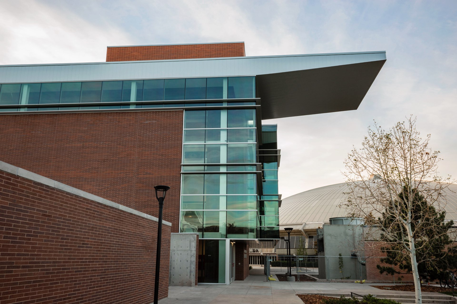 Entrance to the University of Utah Basketball Facility, architectural design by Elliott Workgroup