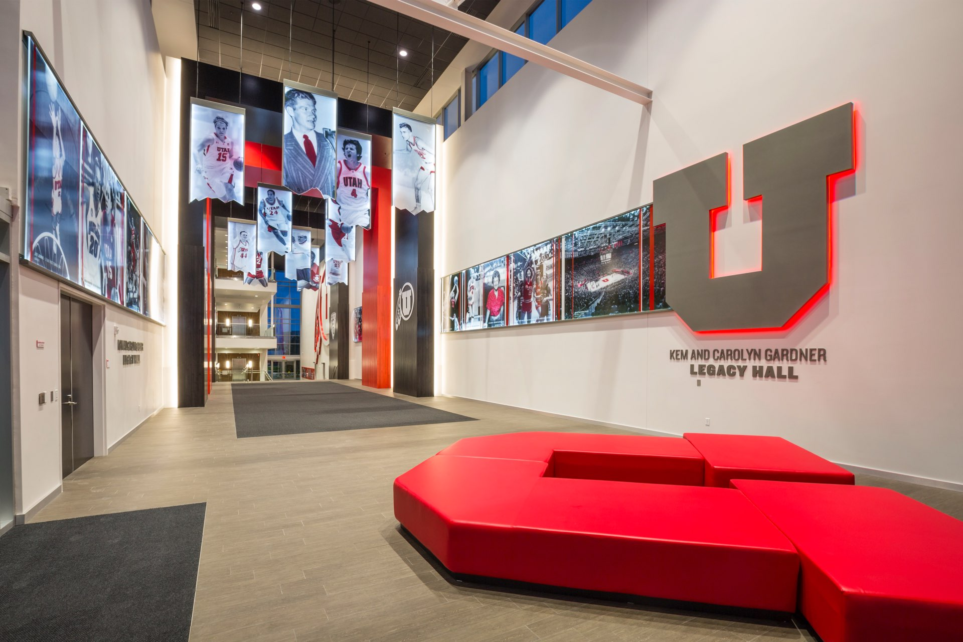 Hall of Fame, University of Utah Basketball Facility, architectural design by Elliott Workgroup