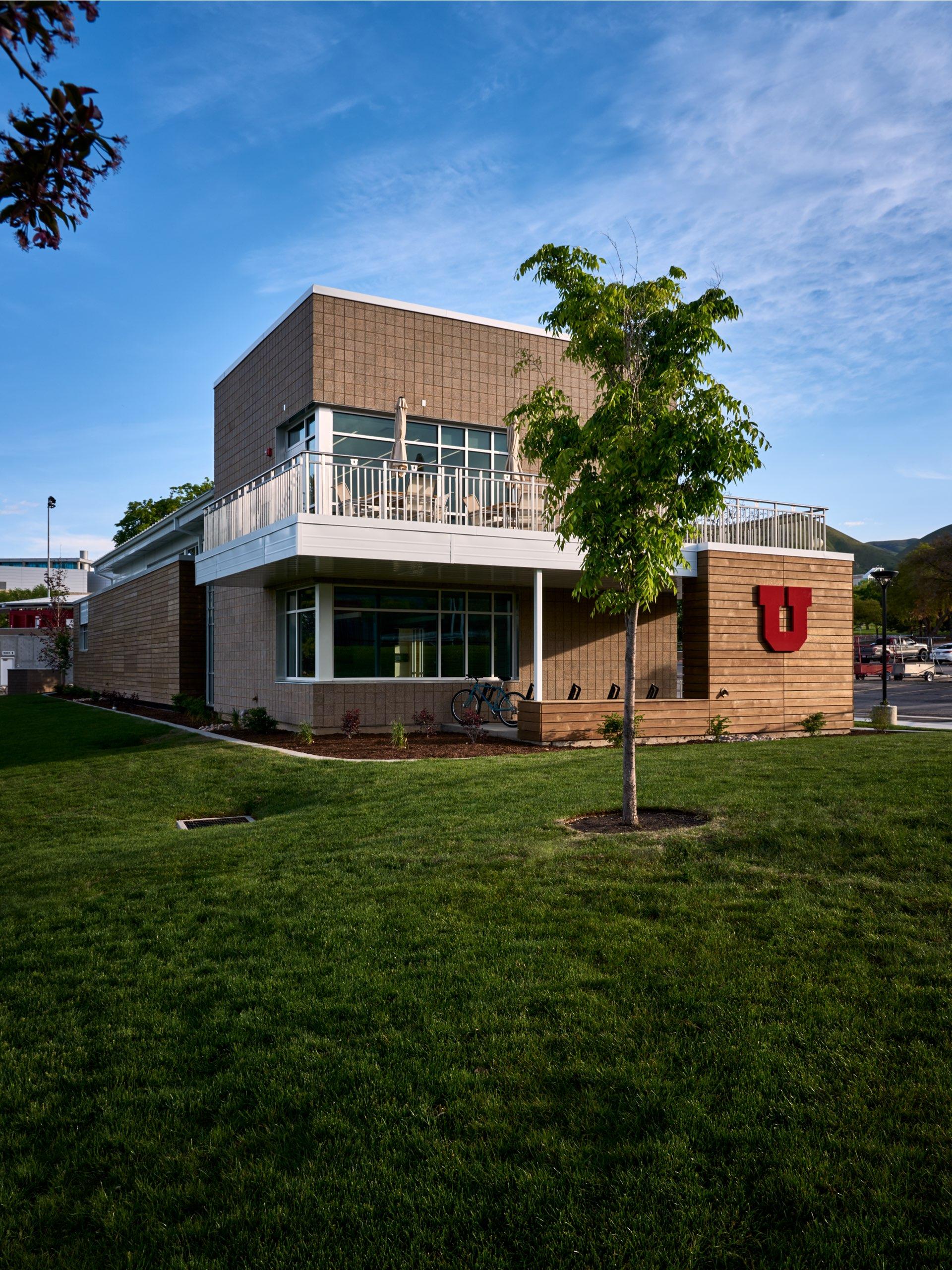 Exterior, University of Utah Ski Team Building, architectural design by Elliott Workgroup