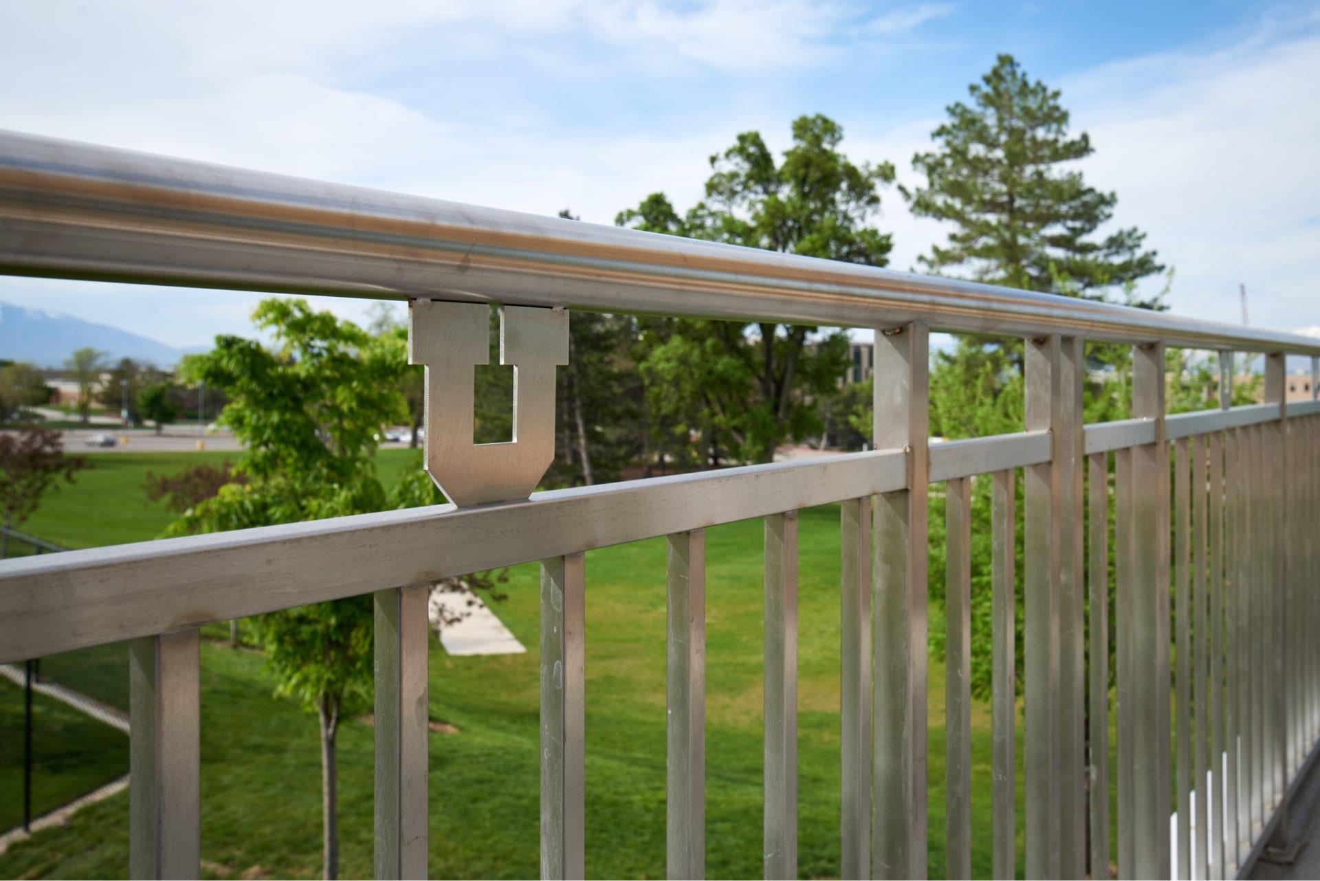 Hand railing, University of Utah Ski Team Building, architectural design by Elliott Workgroup