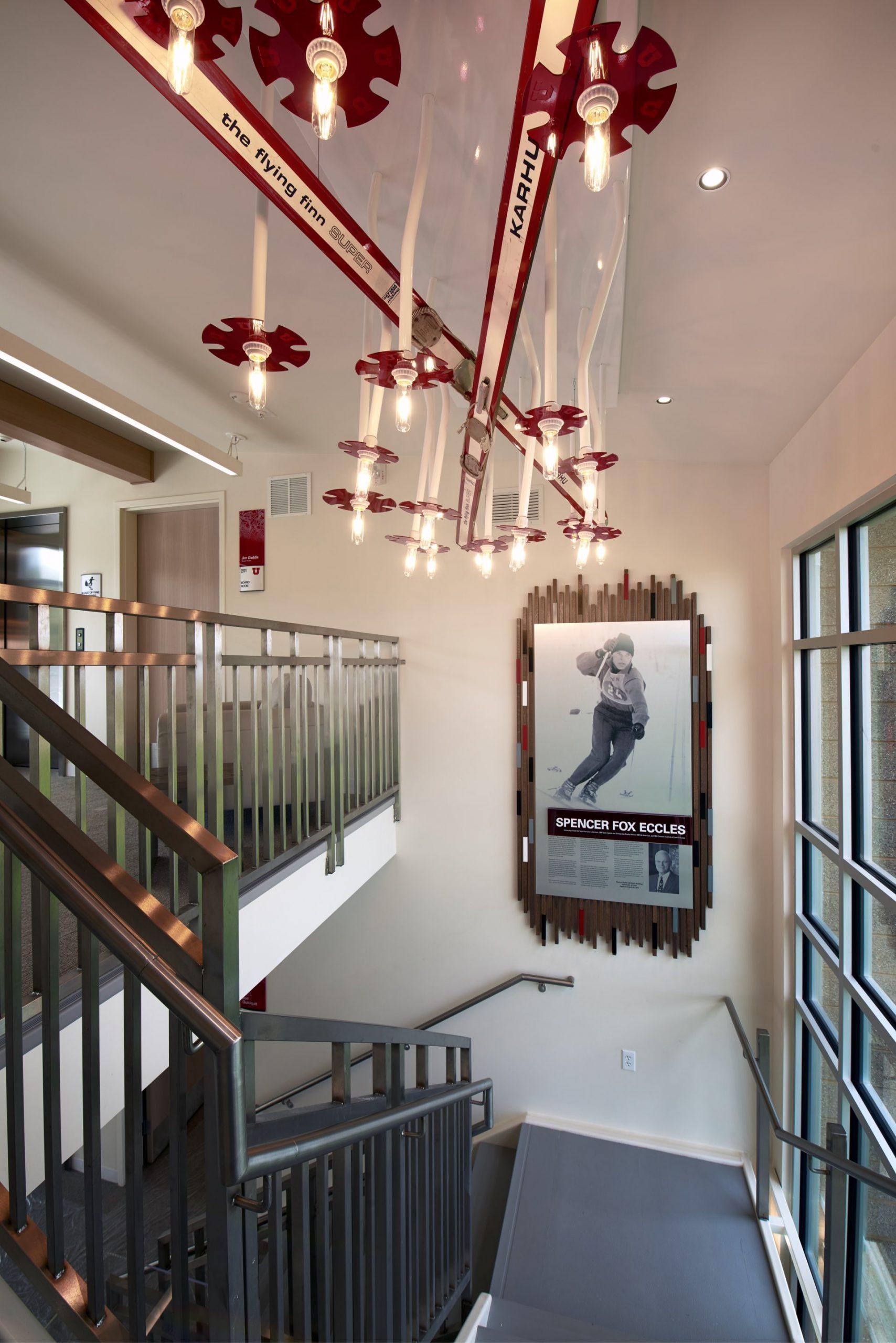 Stairway, University of Utah Ski Team Building, architectural design by Elliott Workgroup
