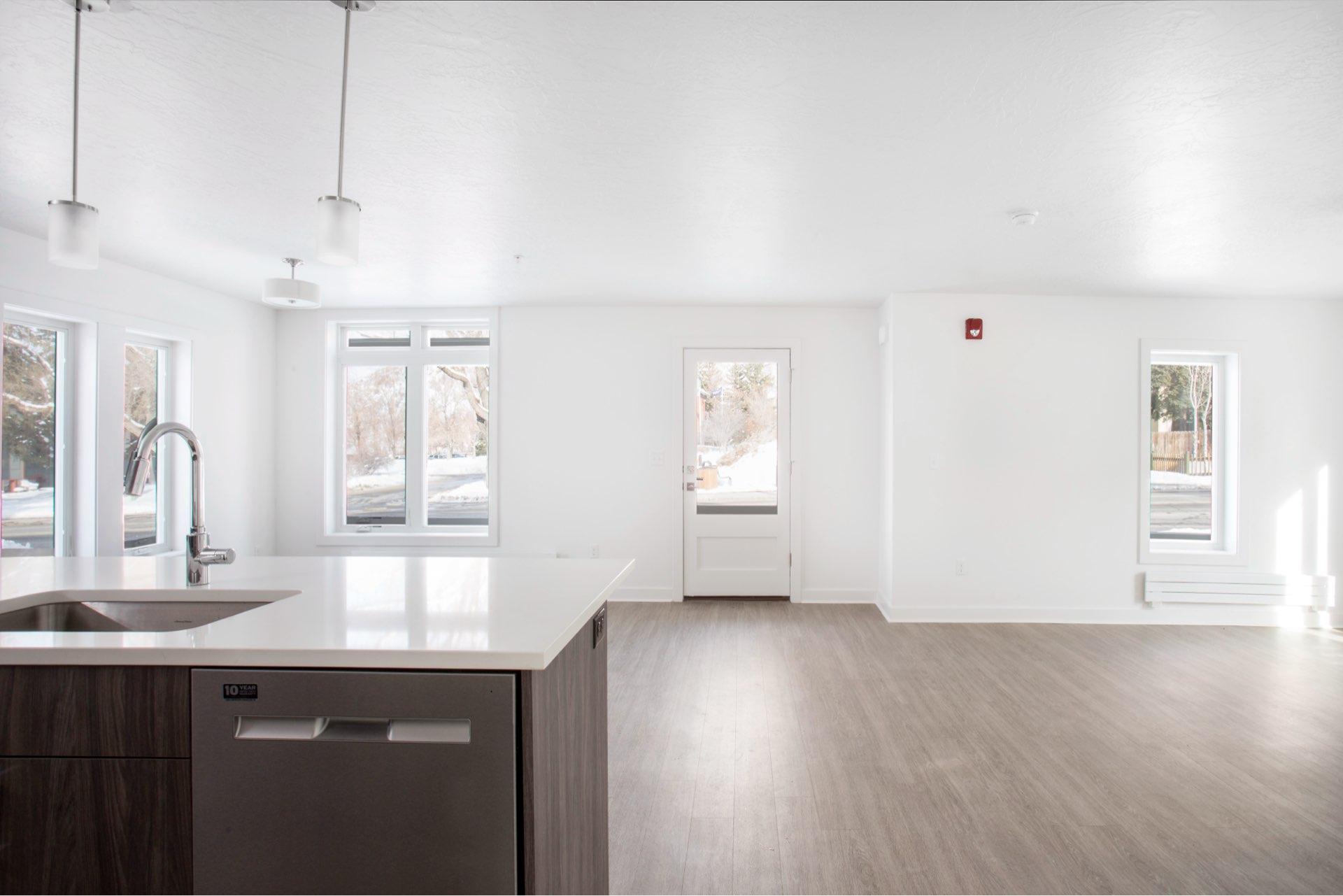 Interior, Woodside Park Affordable Housing, architectural design by Elliott Workgroup