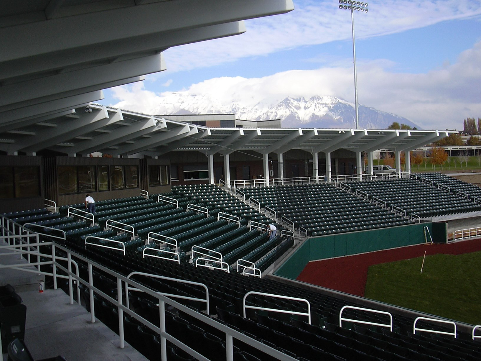 Stands at UCCU Ballpark, architectural design by Elliott Workgroup