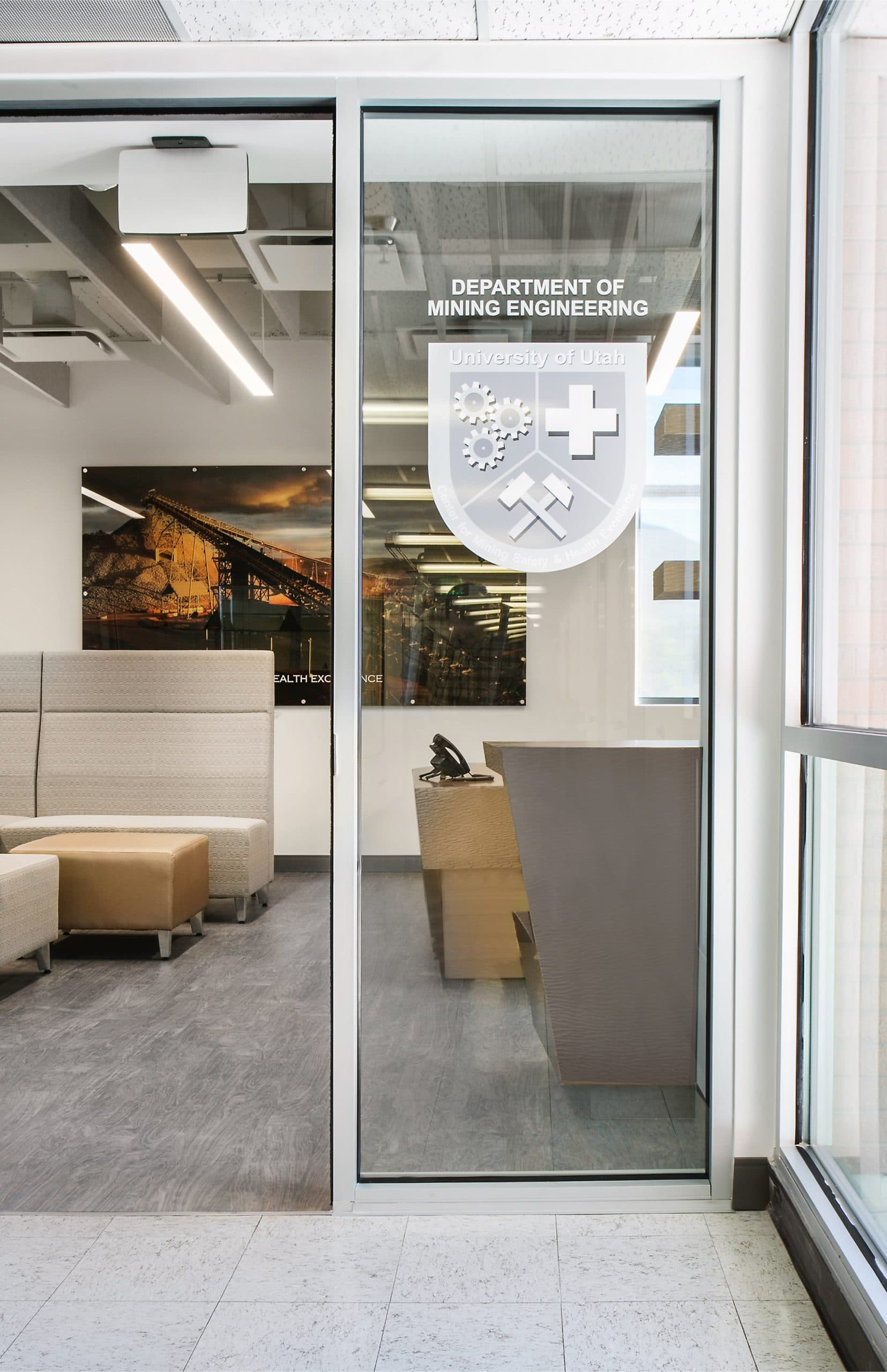Entrance to the University of Utah Newmont Safety Classroom, architectural design by Elliott Workgroup
