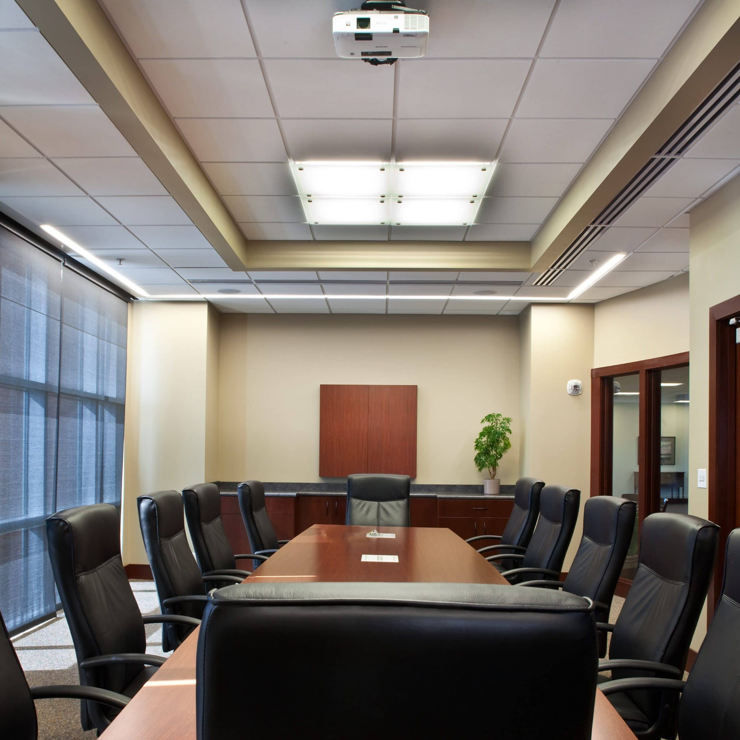 Conference room in Zions Bank Financial Center, architectural design by Elliott Workgroup