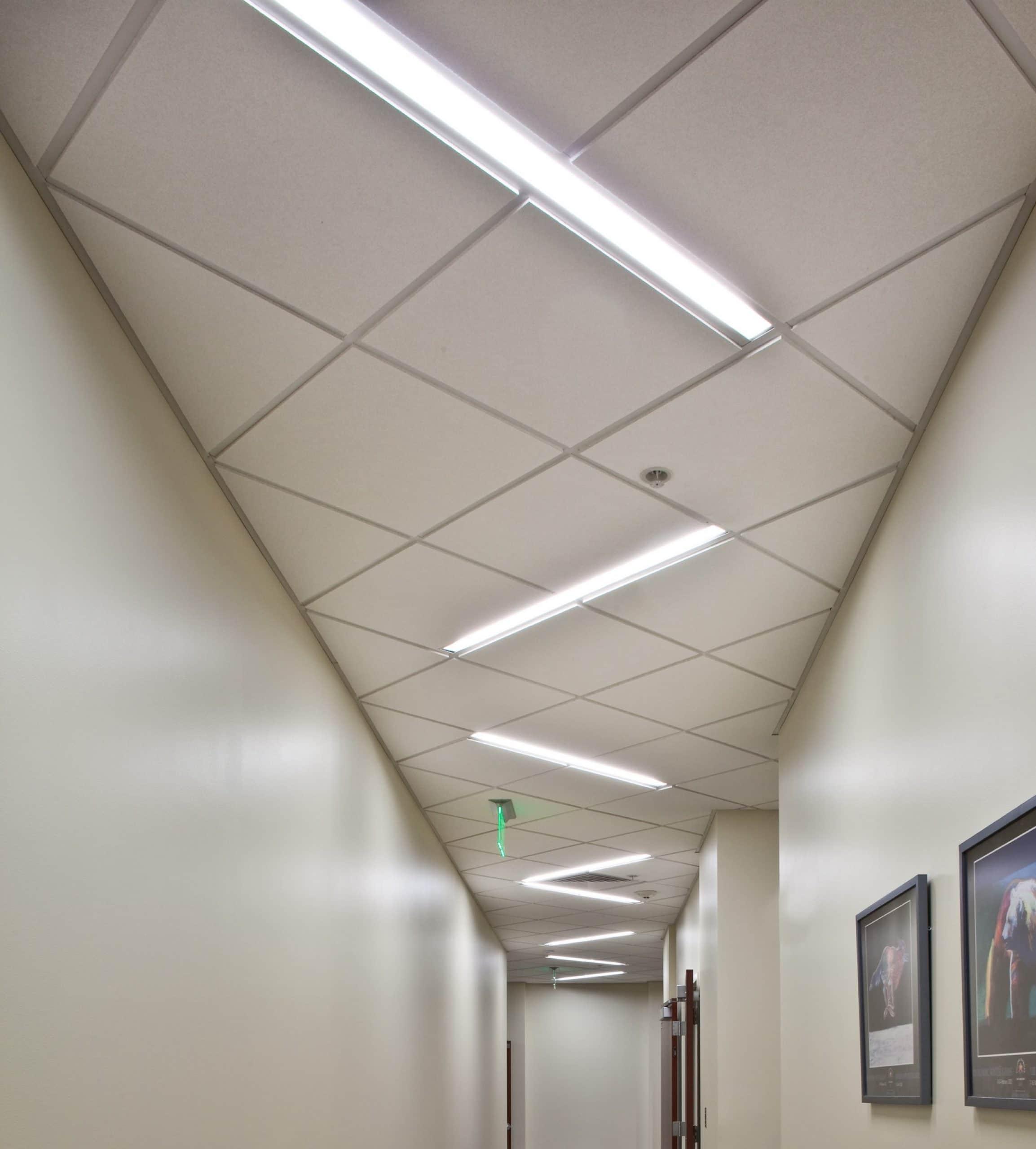 Hallway in Zions Bank Financial Center, architectural design by Elliott Workgroup