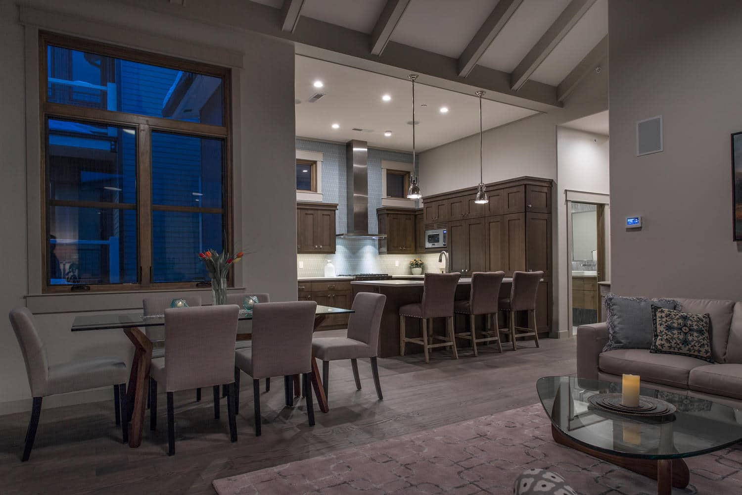 Norfolk Ave 2, kitchen and dining area - architectural design by Elliott Workgroup