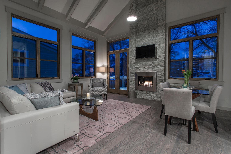 Norfolk Ave 2, living room - architectural design by Elliott Workgroup