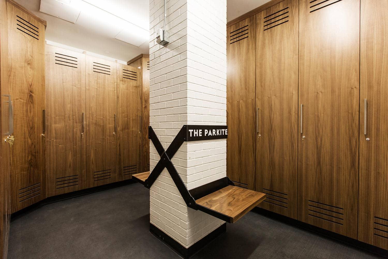 The Parkite, lockers - architectural design by Elliott Workgroup